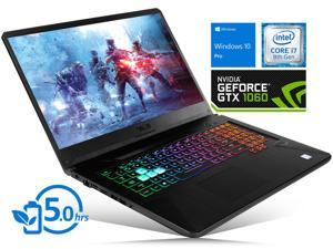 "ASUS TUF FX705GM Notebook, 17.3"" FHD Display, Intel Core i7-8750H Upto 4.1GHz, 32GB RAM, 512GB NVMe SSD, NVIDIA GeForce GTX 1060, HDMI, Wi-Fi, Bluetooth, Windows 10 Pro"