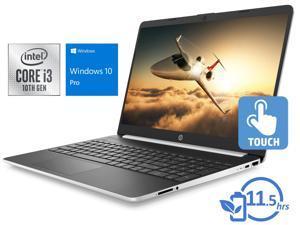 "HP 15 Notebook, 15.6"" HD Touch Display, Intel Core i3-1005G1 Upto 3.4GHz, 16GB RAM, 128GB SSD, HDMI, Card Reader, Wi-Fi, Bluetooth, Windows 10 Pro S"