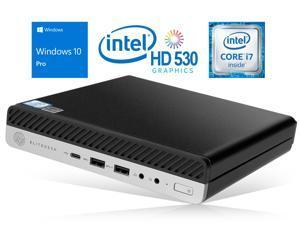 HP EliteDesk 800 G3 Mini PC, Intel Core i7-6700 Upto 4.0GHz, 16GB RAM, 512GB NVMe SSD + 1TB HDD, DisplayPort, Wi-Fi, Bluetooth, Windows 10 Pro