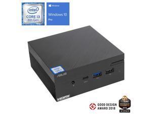 ASUS VivoMini PN60 Mini PC, Intel Core i3-8130U Upto 3.4GHz, 8GB RAM, 128GB NVMe SSD + 1TB HDD, HDMI, DisplayPort via USB-C, Wi-Fi, Bluetooth, Windows 10 Pro