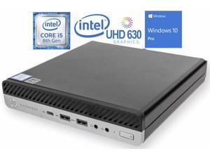 HP EliteDesk 800 G4 Mini PC, Intel Core i5-8500 Upto 4.1GHz, 32GB RAM, 1TB NVMe SSD + 1TB HDD, DisplayPort, Wi-Fi, Bluetooth, Windows 10 Pro