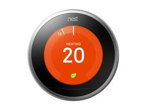 Google Nest Learning Thermostat, Wi-Fi Smart 3rd Generation Thermostat(T3007EF)