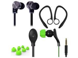 Fuji Labs Sonique 2-in-1 High Grade In-Line Headphones BUNDLE