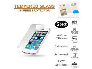 iPhone 5/5c/5s/SE Premium Tempered Glass Screen Protector - 2 Pack