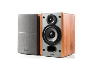 Edifier P12 Passive Bookshelf Speakers - 2-way Speakers with Built-in Wall-Mount Bracket - Wood Color, Pair