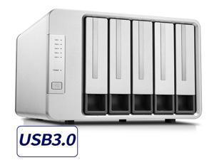 TerraMaster D5-300 USB3.0 Type C 5-Bay Raid Enclosure USB3.0 (5Gbps) Support RAID 5 Hard Drive RAID Storage (Diskless)