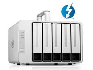 TerraMaster D5 Thunderbolt 3 Professional-Grade 5-Bay External Hard Drive Enclosure RAID 0/RAID1/RAID5/RAID10/JBOD Hard Disk RAID Storage  (Diskless)