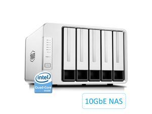 TerraMaster F5-422 10GbE NAS 5-Bay Network Storage Server Intel Quad-core CPU with Hardware Encryption (Diskless)