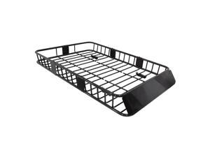 "Spec-D Tuning Universal 64"" Black Extension Roof Rack Cargo Luggage Carrier Hold Basket SUV"