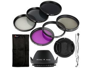 Filter Set + Lens Hood 52mm for Nikon D800 ...