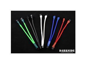 Darkside 3-Pin Dual Fan Power Y-Cable Splitter - Green UV (DS-0441)