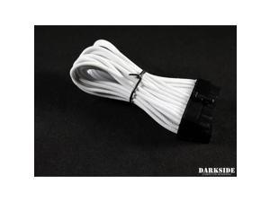 "Darkside 24-Pin ITX 7"" (20cm) HSL Single Braid Extension Cable - White (DS-0634)"