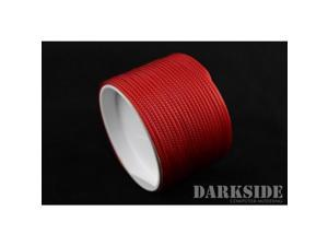 """Darkside 2mm (5/64"""") High Density Cable Sleeving - Red UV (DS-HD2-RED)"""