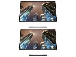 HP EliteDisplay E24 G4 24 Inch IPS LED Backlit Monitor 2-Pack Bundle with FHD 1920 x 1080, Blue Light Filter, HDMI, VGA, DisplayPort