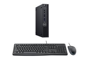 Dell Optiplex 3070 Micro Desktop Computer Bundle with Keyboard, Mouse, i5-8500T CPU, 16GB RAM, 500GB SSD, Windows 10 Pro