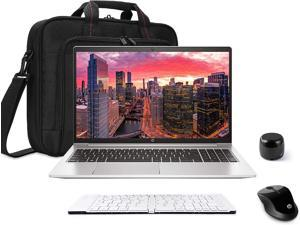 HP ProBook 450 G8 15.6in Notebook Bundle with Intel Core i5 4-Core, 8GB DDR4, 256GB SSD, FHD, Webcam, WiFi, Win 10 Pro, HP X3000 G2 Mouse, Bluetooth Travel Friendly Speaker, Folding Keyboard, Bag