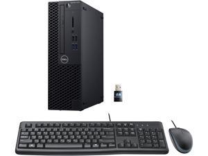 Dell 3070 SFF Desktop PC Bundle with Keyboard Mouse, Intel Core i5-9500 3.0GHz 6 Core (Hexa Core), 8GB DDR4 RAM, 256GB SSD, WiFi, Windows 10 Pro