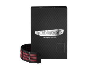 CableMod PRO ModMesh C-Series AXi, HXi & RM Cable Kit - BLACK / BLOOD RED