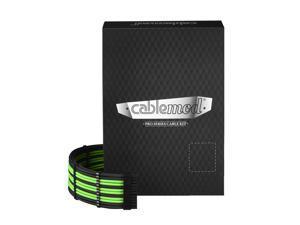 CableMod PRO ModMesh C-Series RMi & RMx Cable Kit - BLACK / LIGHT GREEN