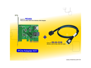 Innocard PCIe x4 to Mini SAS HD & Slimline SAS Adapter with Mini SAS HD to Slimline SAS Cable