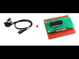 Innocard U.2 (SFF-8639) to PCIe x4 slot Adapter with U.2 to Slimline SAS (SFF-8654) Cable KIT
