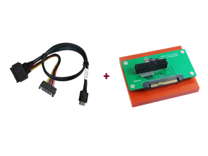 Innocard U.2 (SFF-8639) to PCIe x4 slot Adapter with Oculink (SFF-8611) to U.2 (SFF-8639) Cable