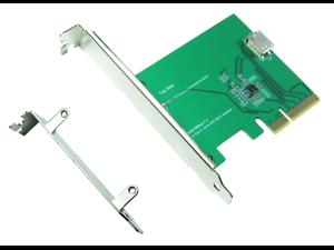 Innocard PCIe Gen 3 / 4-Lane to Oculink (SFF-8612) Adapter with PCIe Standard Bracket & PCIe Low profile Bracket