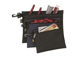 Multi-Purpose Clip-On Zippered Bags (Set of 3)