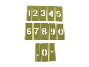 "3"" Interlocking Brass Stencil Number Set"