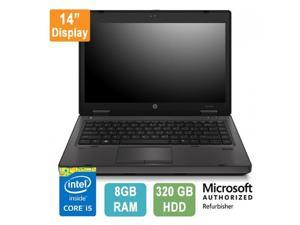 "HP ProBook 6470b, 14"" Display, Intel Core i5, 8GB RAM, 320GB HDD, Windows 10 Pro"