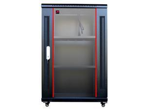 "Sysracks 18U 18"" Depth (450mm) Wall Mount Network IT Server Cabinet Enclosure Rack Equipped FREE! 2 Shelves, Cooling Fan, 8-way PDU, Wheels & more"