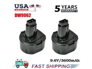 2PACK For Dewalt 9.6V Ni-MH 3.6Ah Batteryy DW9062 DW9061 DW926K DW952K Cordless