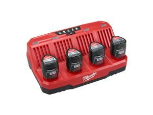 Milwaukee 48-59-1204 M12 Li-Ion Four Bay Sequential Battery Charger New