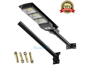 990000LM Commercial Solar Street Light LED Outdoor Mounting Pole Black