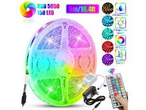 16.4FT Led Strip Lights RGB Led Room Lights 5050 SMD Tape Lights Color Changing