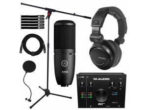 M-Audio AIR192X4 Audio Recording Interface w AKG P120 Recording Condenser Micro