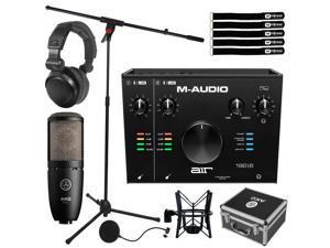 M-Audio AIR 192   6 2x2 USB Audio MIDI Recording Interface w P220 Mic & Headpho