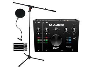 M-Audio Air 192 8 USB MIDI Home Audio Recording Interface w Software & Mic Stand
