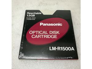 PANASONIC LM-R1500A DOUBLE SIDED 1.5 Gb. OPTICAL DISK CATRIDGE 092281190587 U3/4