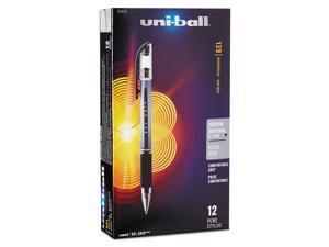 uni-ball Signo Gel GRIP Roller Ball Stick Gel Pen Black Ink Medium Dozen 65450