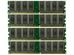 4GB 4X 1GB DDR PC3200 4GB PC 3200 400MHz 184 Pins LOW DENSITY DESKTOP MEMORY RAM DUAL KIT
