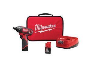 Milwaukee M12 12V Li-Ion Sub-Compact Screwdriver w/2 Batteries 2401-22 New
