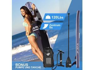 10' Inflatable Stand Up Paddle Board SUP w/ 3 Fins Adjustable Paddle Backpack