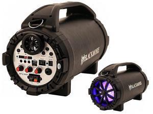 "Blackmore BTU-5001 5.25"" Black Cylinder Speaker +Bluetooth +AUX/USB/SD/FM +LED"