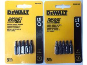Dewalt DW2201IR5 #1 Square Impact Ready Drive Bits 2-5 Pks