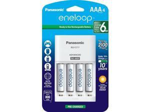 Panasonic K-KJ17M3A4B Eneloop AAA 4 Position Charger + 4 Rechargeable Batteries