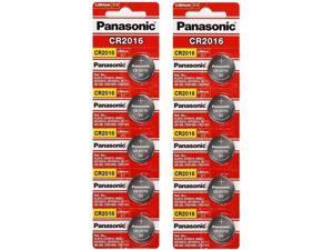 10 x PANASONIC CR 2016 CR2016 ECR2016 LITHIUM COIN CELL Button Battery Exp 2025