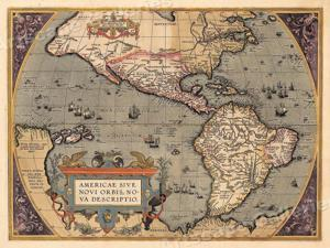 1690s Vintage Style Illuminated Early Old World Map Poster 16x20