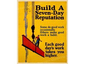 1920s Work Incentive Motivational Poster 24x30 Diving For Success