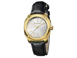 f9de9c37779 Wenger Womens Edge Index 100m Gold Tone S. Steel Leather Watch ...